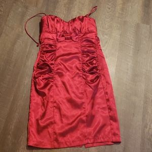 Red speechless cocktail dress